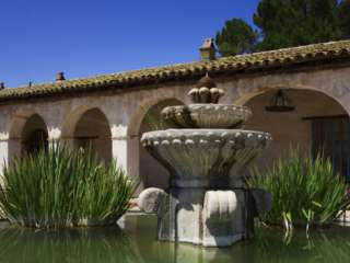 Courtyard Fountain, Mission San Miguel Arcangel, San Miguel
