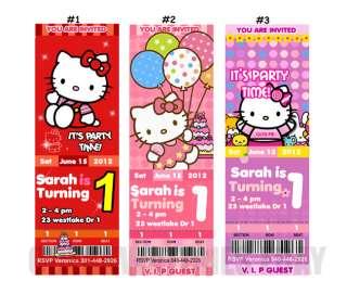 HELLO KITTY BIRTHDAY PARTY INVITATIONS Tickets Custom Personalized