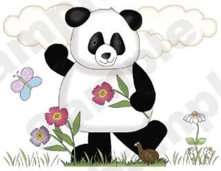 PANDA BEARS BABY NURSERY WALL BORDER STICKERS DECALS