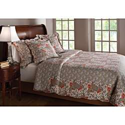 Parisian Paisley Indian Summer Full/Queen size 3 piece Quilt Set