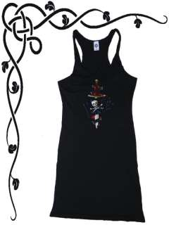 Junior Dress PIRATES DAGGER pirate design tank top tee