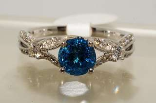 6500 1.17CT ROUND CUT BLUE DIAMOND ENGAGEMENT RING VS SIZE 6.75