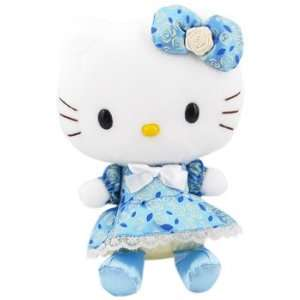 Hello Kitty Floral Dress Plush Blue/Bow Toys & Games