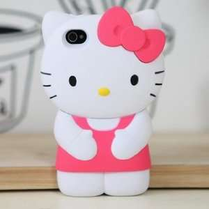 3D HELLO KITTY IPHONE CASE FOR iPhone 4/4S (PINK