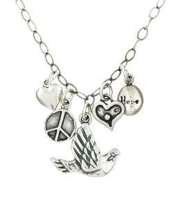 Charming Life Peace/ Love/ Hope Fringe Necklace