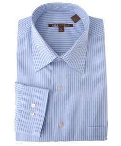 BCBG Attitude Mens Blue Horizon Long Sleeve Dress Shirt