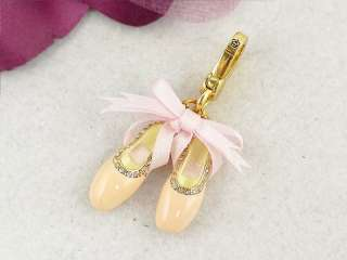 NEW NWOT JUICY COUTURE PINK BALLET SHOE CHARM