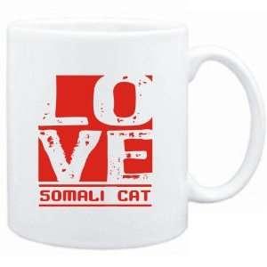 Mug White  LOVE Somali  Cats