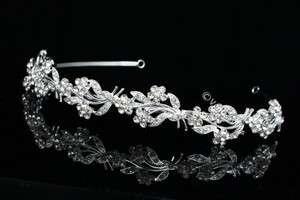 Bridal Party Wedding Veil Crystal Headband Tiara