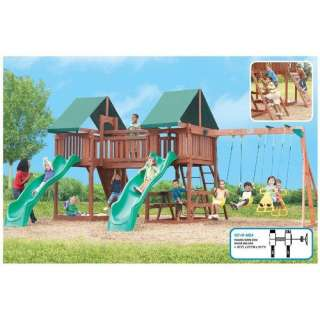 Sequoia Playset, Wooden Swing Set, Outdoor Swing Set, Kids Swing Set