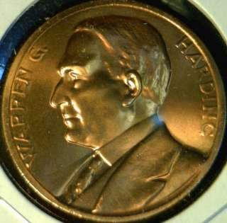 Harding US MINT INAUGURATED Commemorative Bronze Medal   Token   Coin