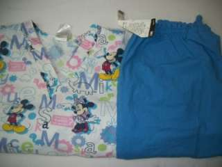 CHARACTER MEDICAL Nurse Dental Vet SCRUBS Outfits Sets Medium DISNEY