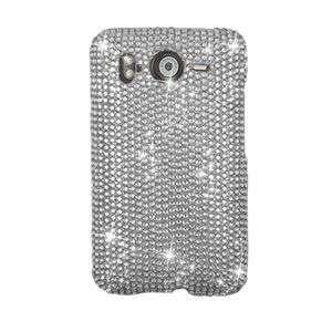 FULL SILVER BLING HARD CASE COVER FOR HTC INSPIRE 4G