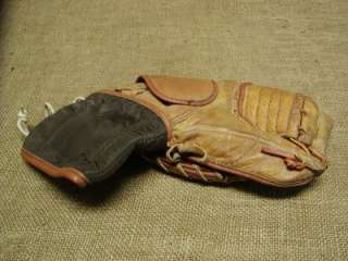 Vintage Leather Cooper Hockey Goalie Glove Antique Old