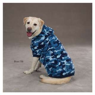 CASUAL CANINE CAMOUFLAGE DOG HOODIE WINTER WARM NEW