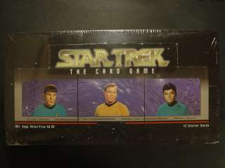STAR TREK THE CARD GAME 12 STARTER DECKS SEALED BOX