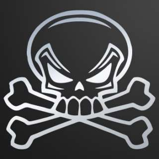 Helmet Decal Sticker Skull Crossbones Car Window ZE53X