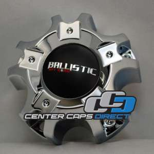 WX 02 114.3/127 5H Ballistic Wheels Chrome Center Cap