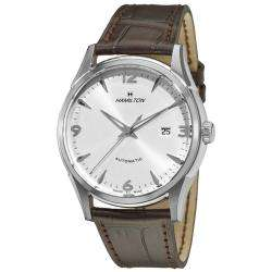 Hamilton Mens Timeless Classic Thin O Matic Brown Leather Strap Watch