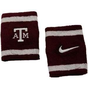 Nike Texas A&M Aggies Elite NCAA Team Logo Wristbands