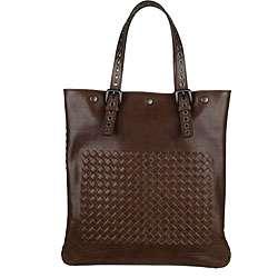 Bottega Veneta Brown Woven Leather Tote