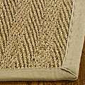 Hand woven Diamonds Natural/ Beige Seagrass Runner (26 x 10