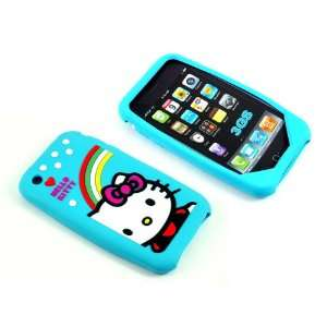 Smile Case Blue Hello Kitty Full Cover silicone Case for iPhone 3G 3GS