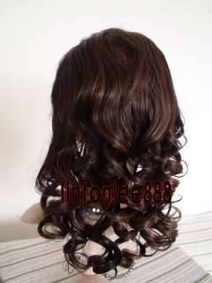 20 Body Curl French Full Lace Cap Wig India Remy 100% Human Hair