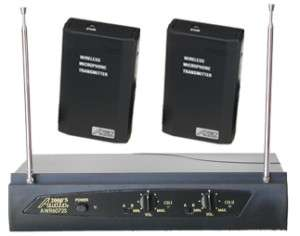 Audio2000S AWM6072SG Dual Guitar Wireless Microphone System NEW