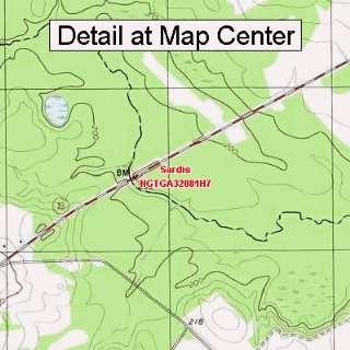 USGS Topographic Quadrangle Map   Sardis, Georgia (Folded