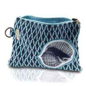 Saltbox Blue Lagoon Sea Shell Cosmetic Bag: Beauty