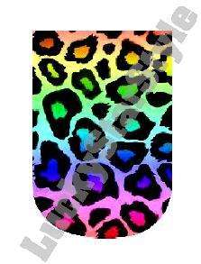 Nail Decals Set of 10   Rainbow Leopard Print Full Nail