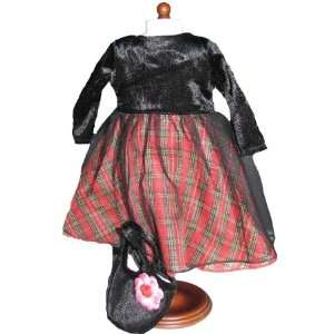 Holiday/christmas Dress Outfit Includes 18 Dolls Accessories Toys