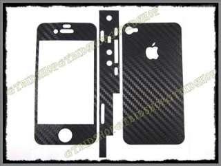 Iphone 4 i phone 4 Black Carbon Fiber Full Skin Sticker protect easy