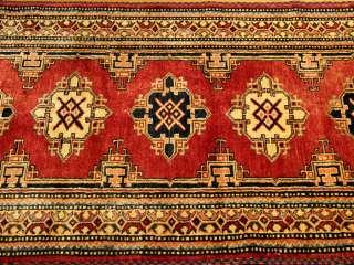 7x11 Beautiful Handmade Veggie Dye Wool Kazak Runner