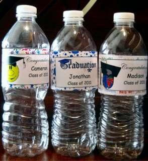75 Graduation Personalized Water Bottle Labels Favors