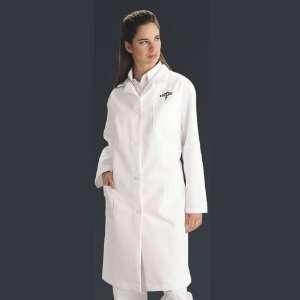 Ladies Full Length Lab Coat White Medium