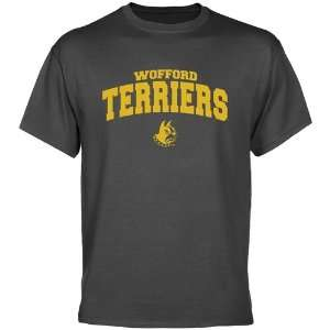 NCAA Wofford Terriers Charcoal Logo Arch T shirt: Sports