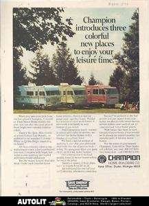 1974 Champion Concord Titan Motorhome RV Ad