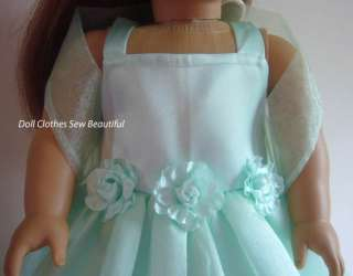 Doll Clothes fit American Girl Mint Green Dress Set 4PC