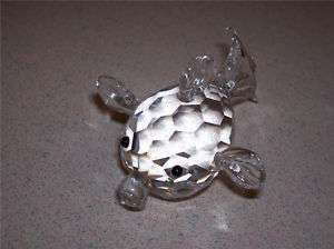 Crystal Blow Fish Figurine Display