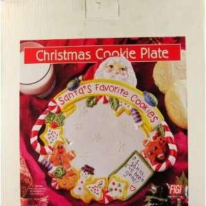 Santas Favorite Cookies Christmas Plate Ceramic 10