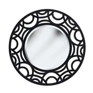 Kenroy Home Current Wall Mirror in Gloss Black Decor