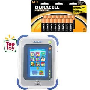 VTech InnoTab Learning App Tablet and Duracell Battery