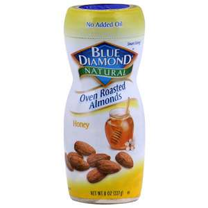 Blue Diamond Natural Oven Roasted Almonds, 8 oz (Pack of