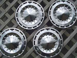 CHEVROLET CHEVY II NOVA HUBCAPS WHEEL COVERS CENTER CAPS ANTIQUE RIMS