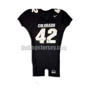 Black No. 42 Game Used Colorado Nike Football Jersey