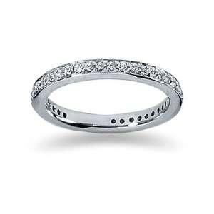 0.37 Diamond Wedding band in 14k White Gold SZUL Jewelry