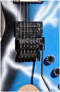 Dimebag DEAN From HELL CFH Blue Lightning Bolt Elect Guitar Hard Shell