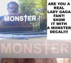 Lady GaGa MONS†ER  Decal / Sticker (International)